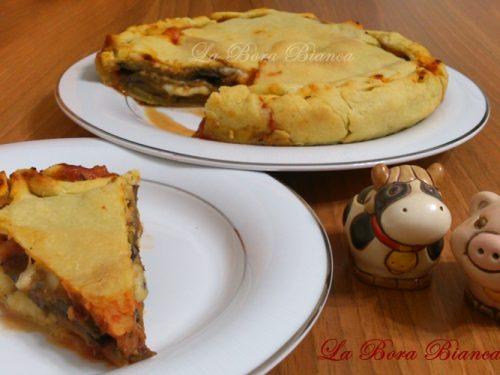 Torta salata con melanzane, ricetta gustosa