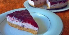 Torta fredda allo yogurt, ricetta senza cottura nè colla di pesce