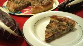Torta salata con radicchio e salsiccia, ricetta rustica