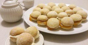 Biscotti al burro ripieni, ricetta senza uova