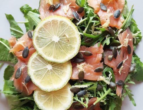 Insalatona salmone,limone e zenzero