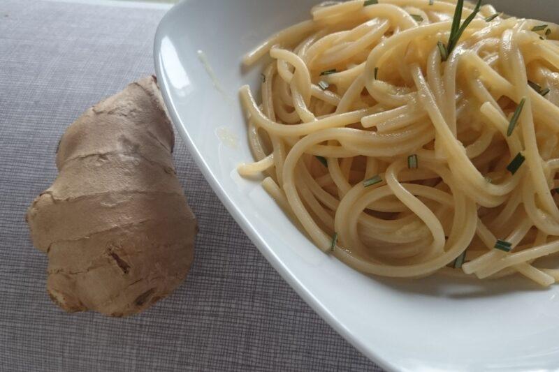 Spaghetti cremosi aglio, olio e… zenzero!