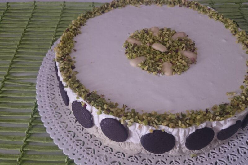 Semifreddo mandorle e pistacchio (senza cottura)