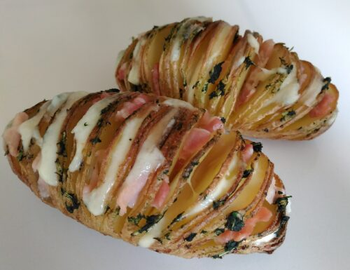 Patate hasselback (farcite, al forno)