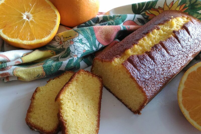 Plumcake all'arancia (senza burro)
