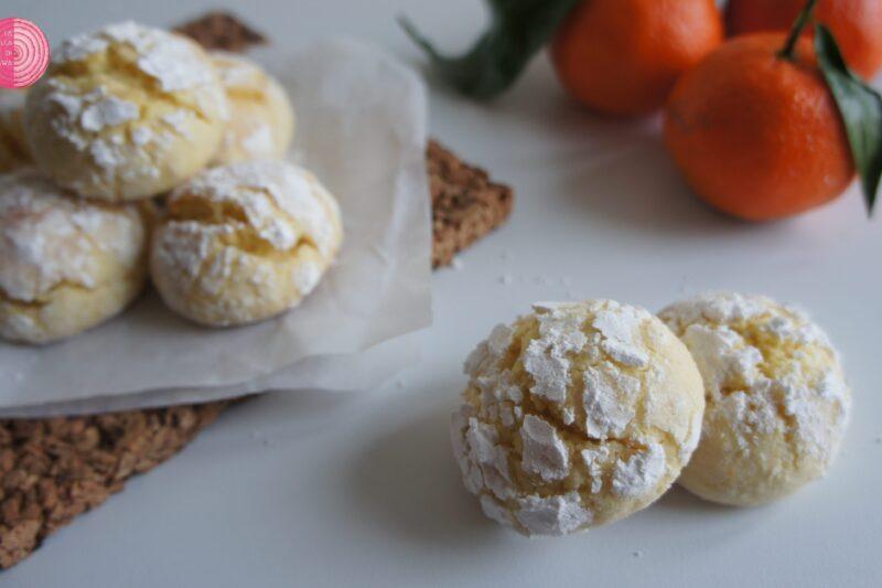 Nuvole al mandarino, biscotti morbidi