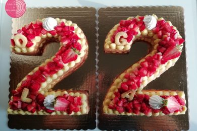 Number Cake (cream tart)