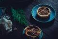 TORTA SALATA formaggio blu di capra e pere