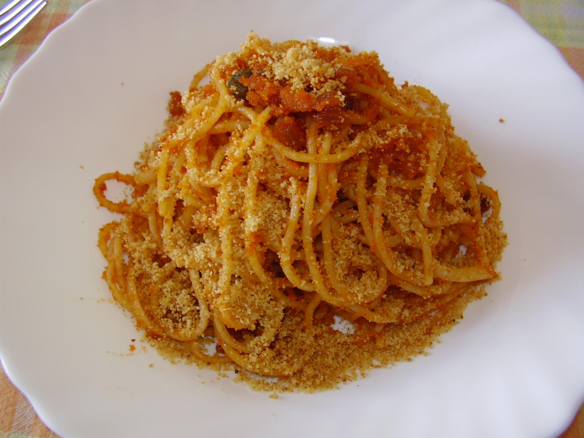 Ricette pasta con il pangrattato