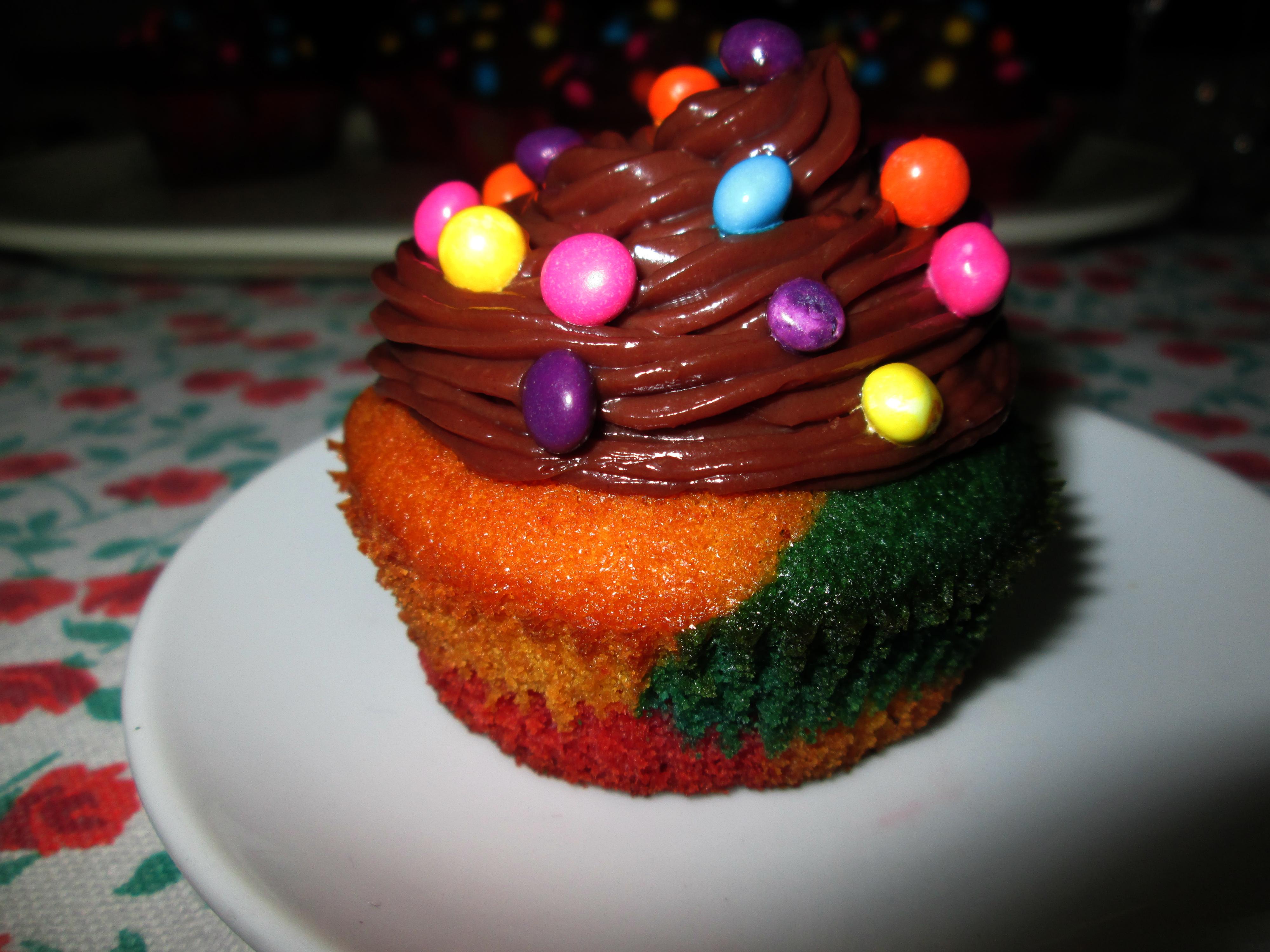 Cupcakes arlecchino la cucina azzurra di francesca for La cucina di francesca valmadonna