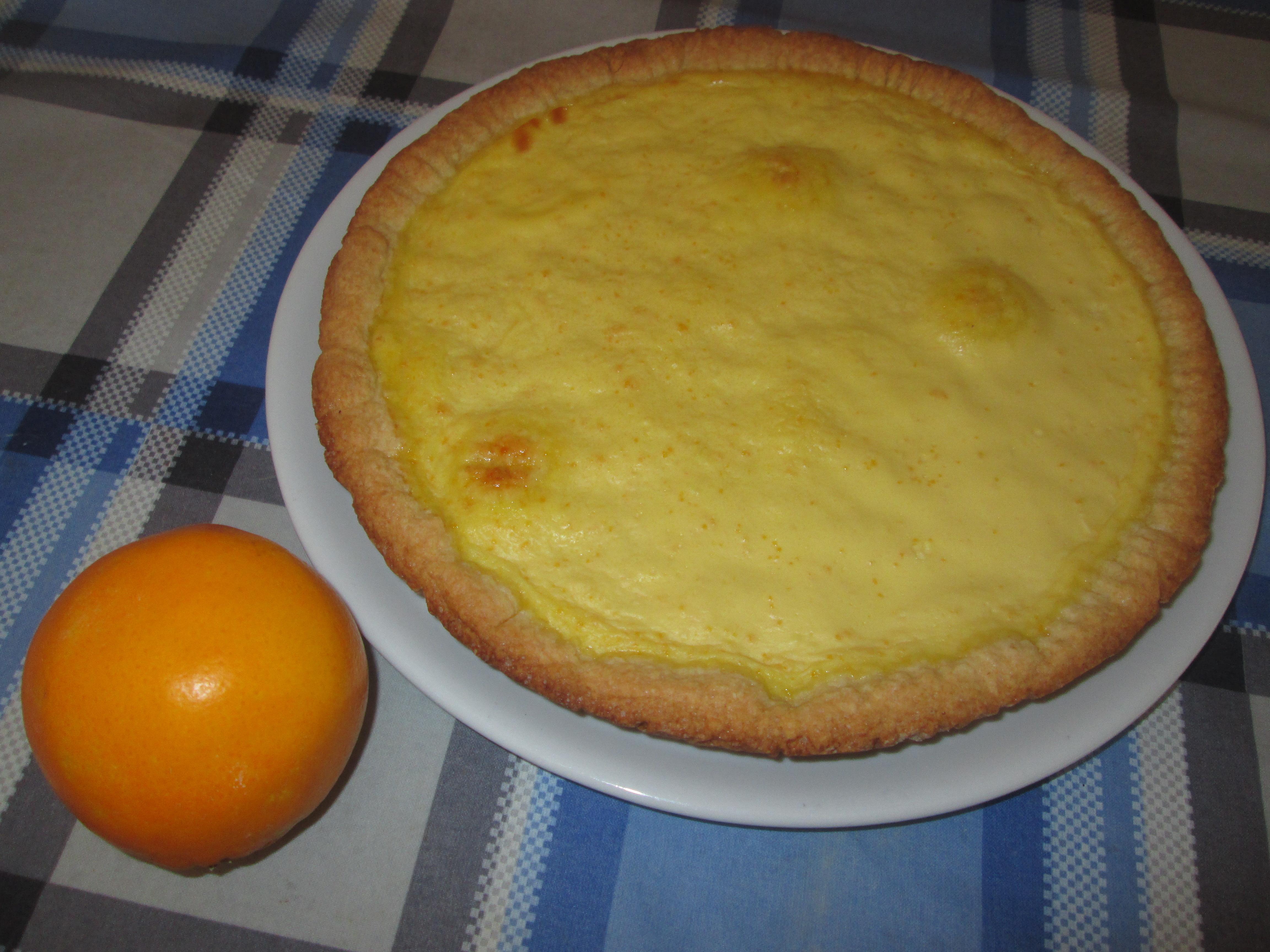 Crostata con crema all 39 arancia la cucina azzurra di for La cucina di francesca valmadonna