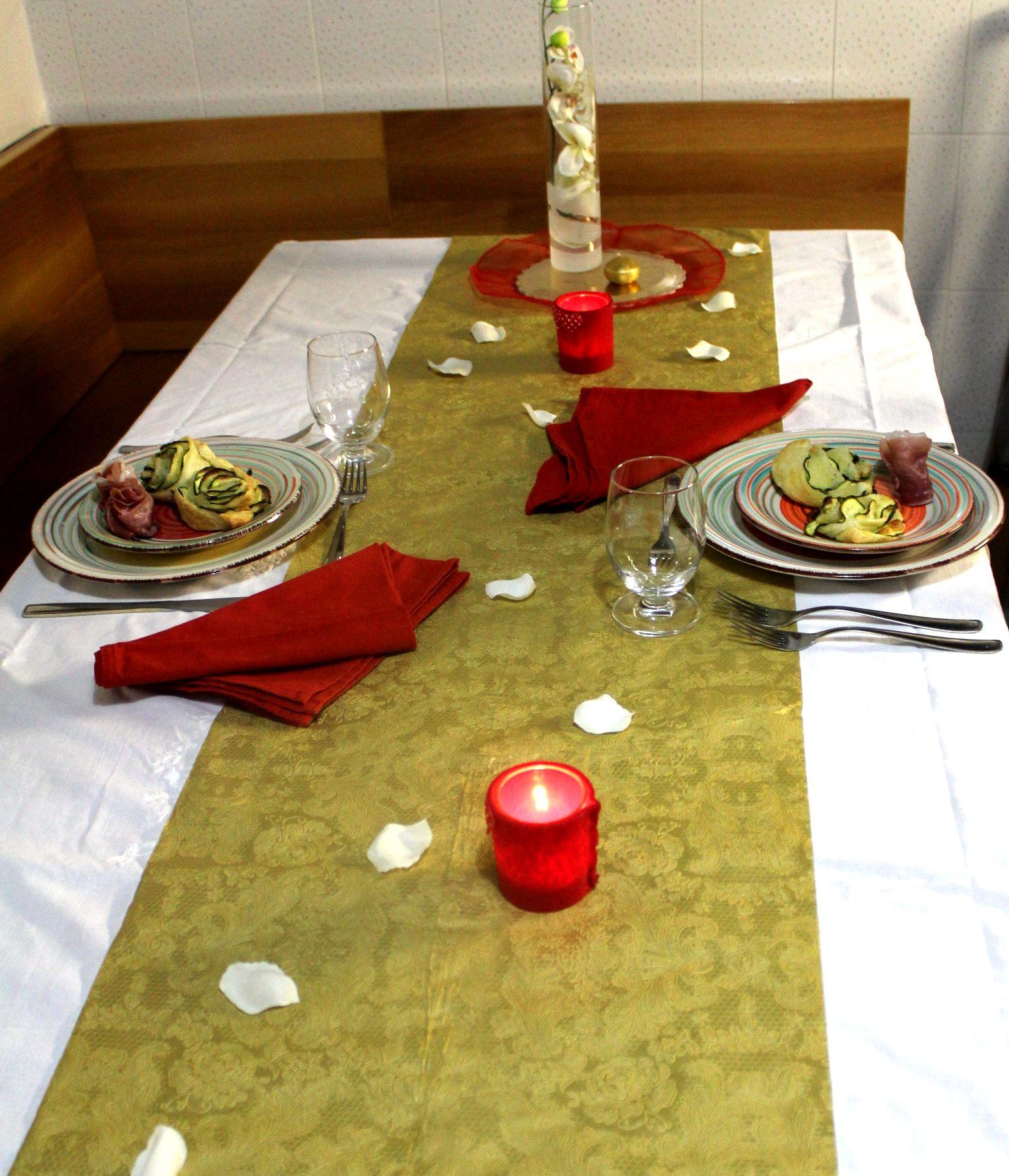 Tavola per una cena romantica la cucina dei balocchi - Tavola per cucina ...