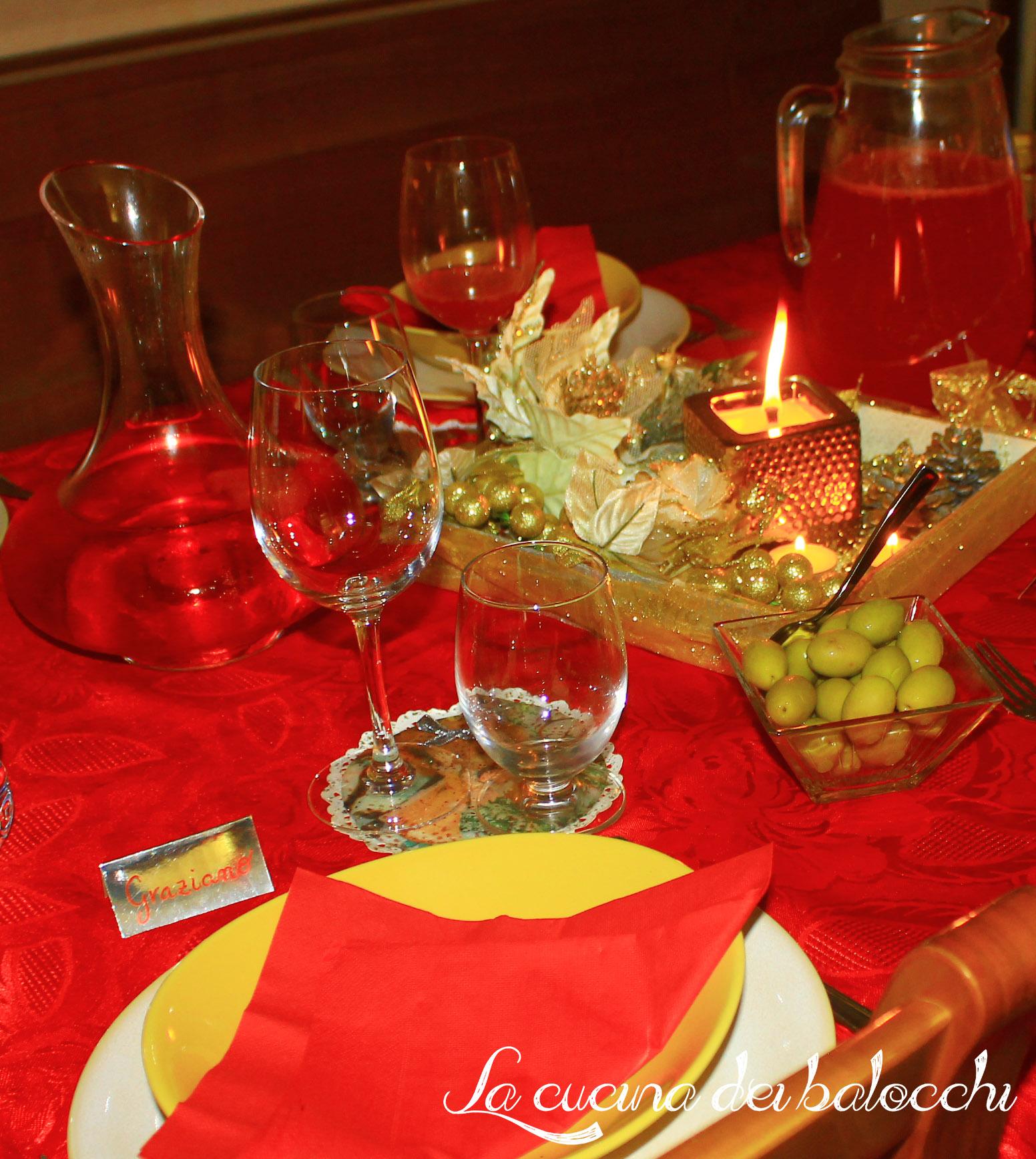La tavola di natale la cucina dei balocchi for Tavolo natale