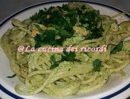 Spaghetti cremosi con gamberi