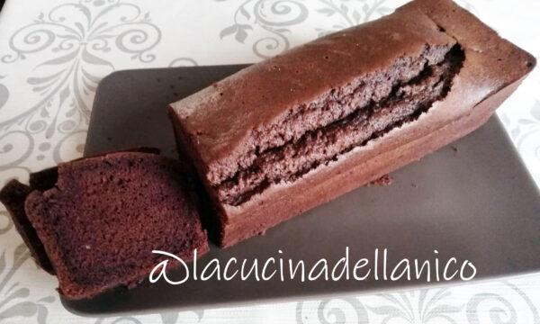 Plumcake al cacao con solo albumi