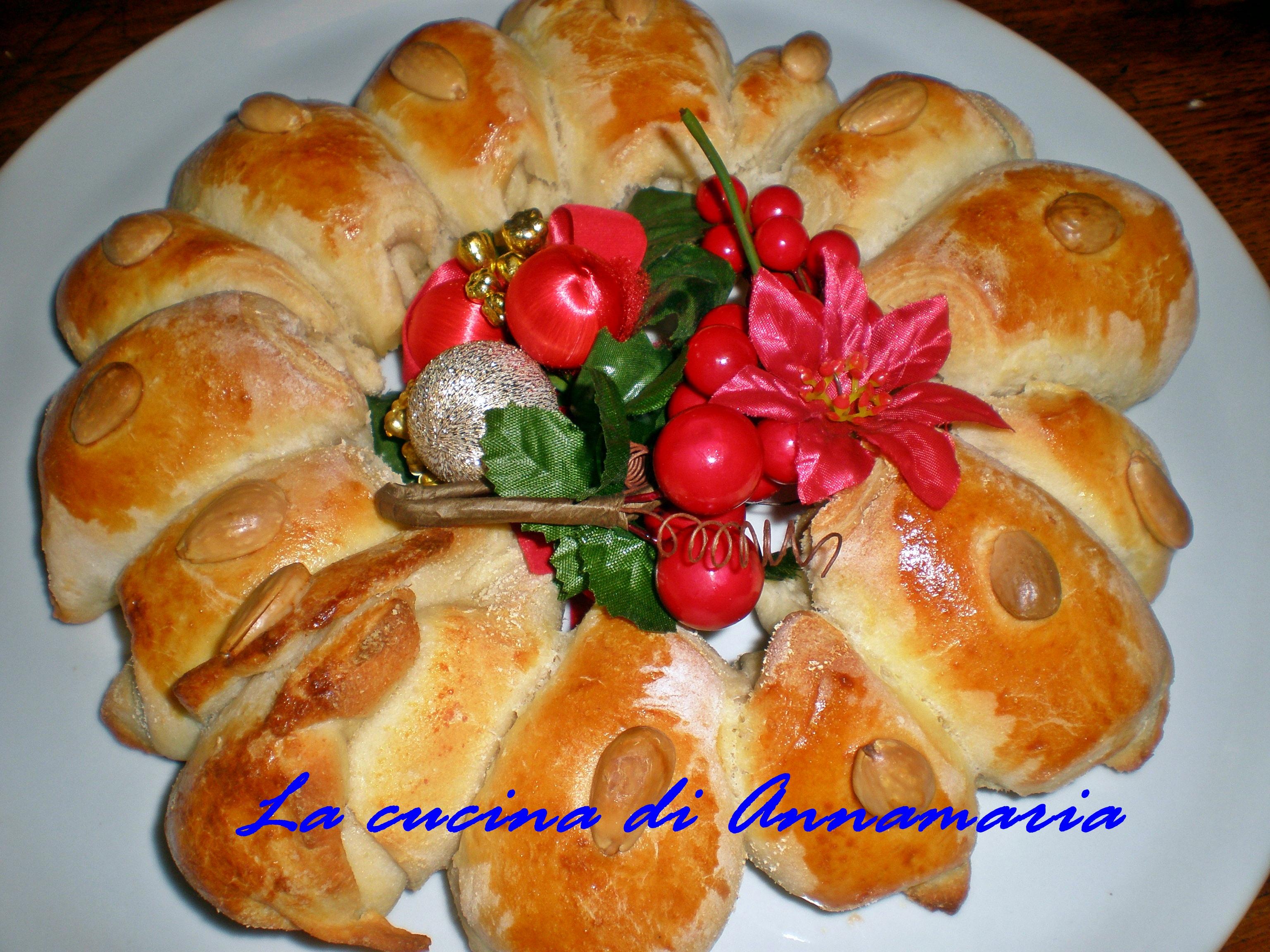 Corona di pane ricetta centrotavolo di natale for Marchi di pasta da non mangiare