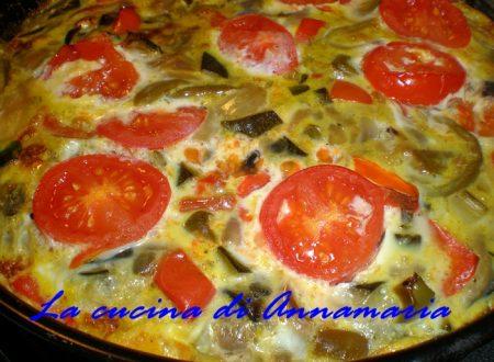 Frittata al forno con verdure, ricetta light