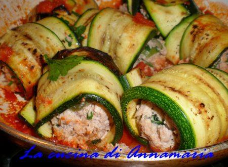 Involtini di zucchine al tonno, ricetta light