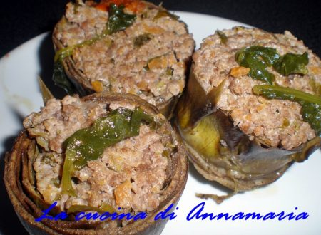 Carciofi ripieni di carne, ricetta light
