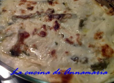 Lasagna ai carciofi, ricetta  di Carnevale