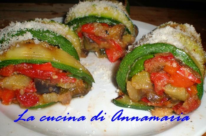 Ricette Verdure Vegane.Rotolini Di Zucchine Alle Verdure Ricetta Vegan Lacucinadiannamaria