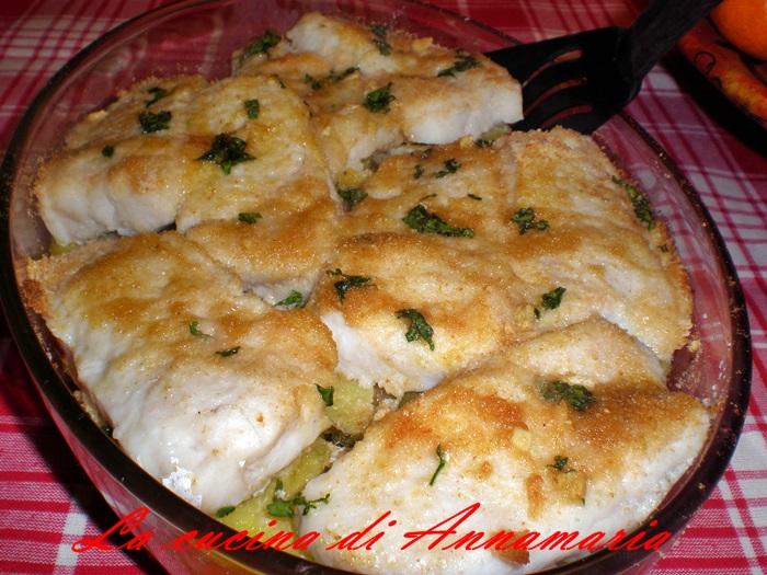 filetti di merluzzo gratinati al forno con patate ... - Cucinare Filetto Di Merluzzo