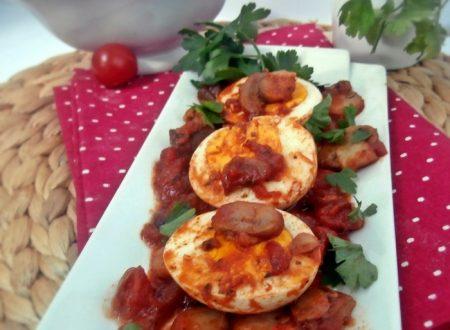Uova sode in salsa ricetta leggera