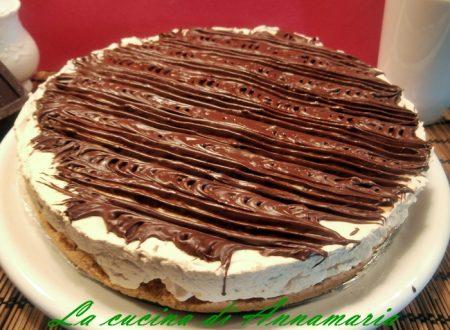 Cheesecake al caffe' e al cioccolato senza cottura