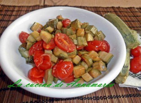 Zucchine con pomodorini
