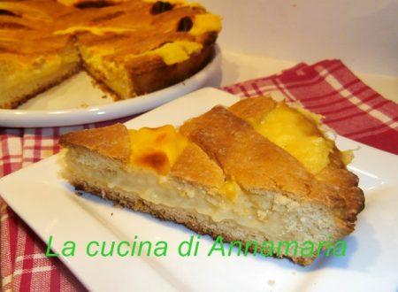 Crostata con crema pasticcera al sapore di limoni
