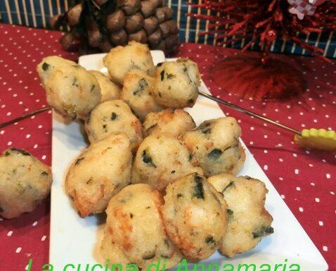 Frittelle con zucchine e gamberetti
