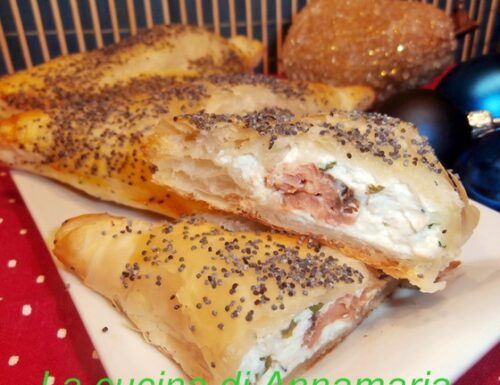 Fagottini di salmone e robiola