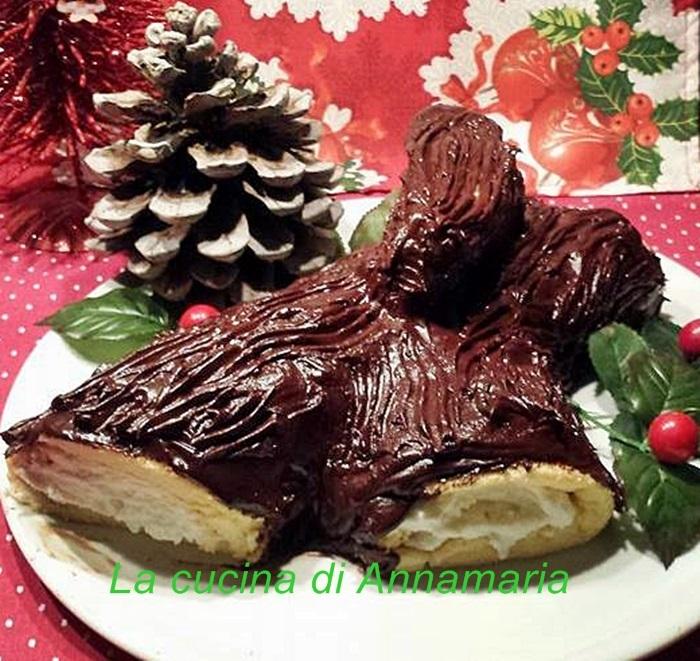 Tronchetto Di Natale Con Ricotta E Cioccolato.Tronchetto Con Crema Di Ricotta