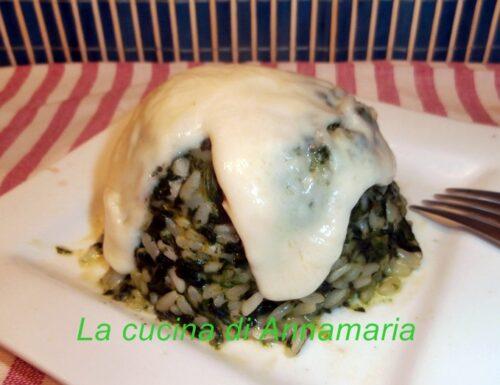 Risotto con spinaci e provola