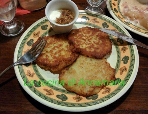 Pancake di patate e cipolle