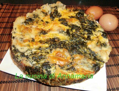 Frittata al forno con bietole e scamorza