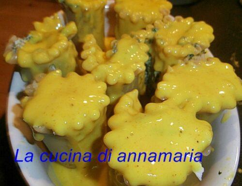 Rose di lasagna con ricotta  spinaci