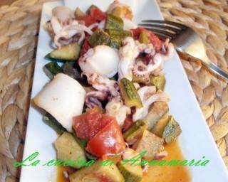 calamari con zucchine