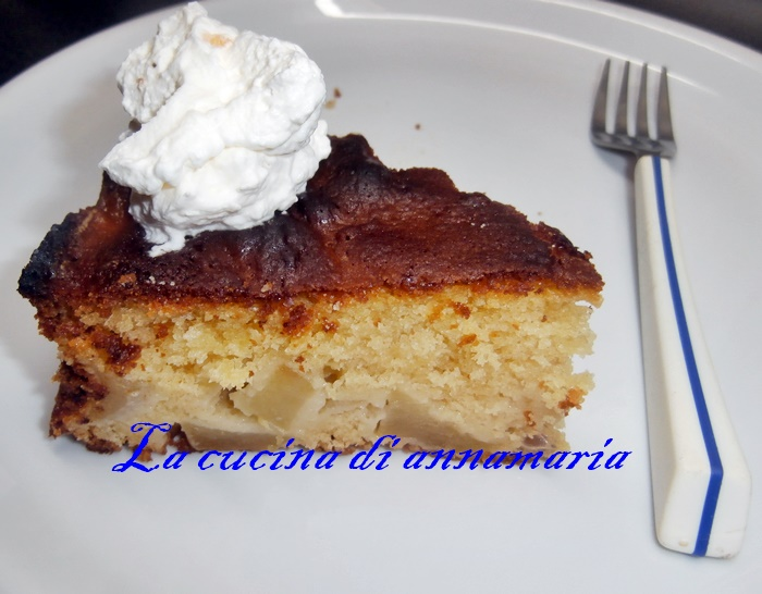 torta di mele con farina d'avena