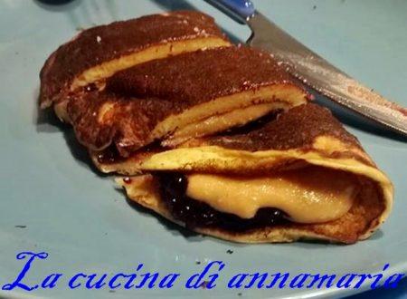 Pancake crema e amarene