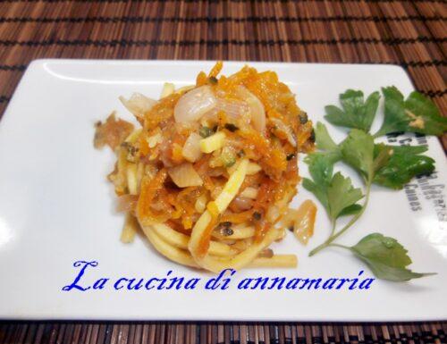 Vermicelli con cipolla zucchine e carote