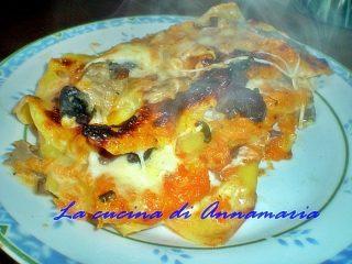 lasagne funghi e zucca