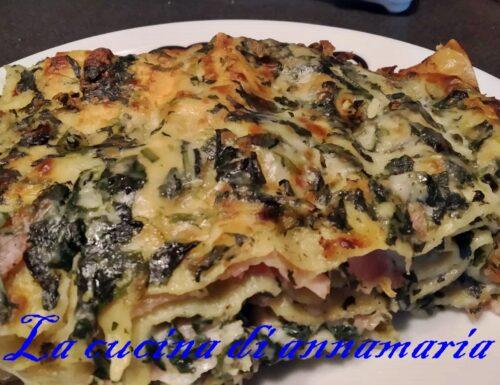 Lasagna con spinaci e besciamella