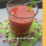Smoothie fragole e arancia