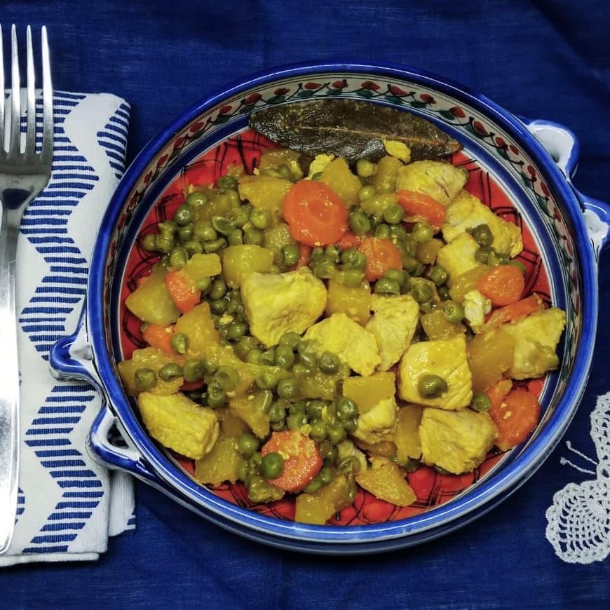 Spezzatino di tacchino con verdure