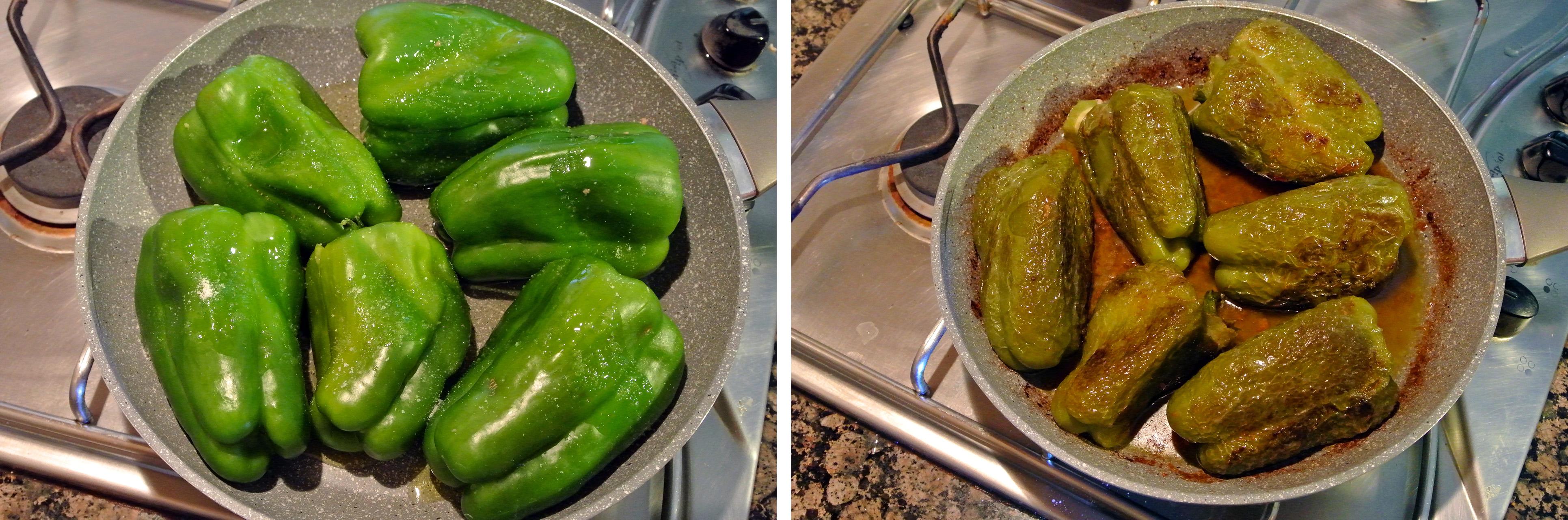 Peperoni ripieni con carne