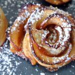 Rose di sfoglia e mela