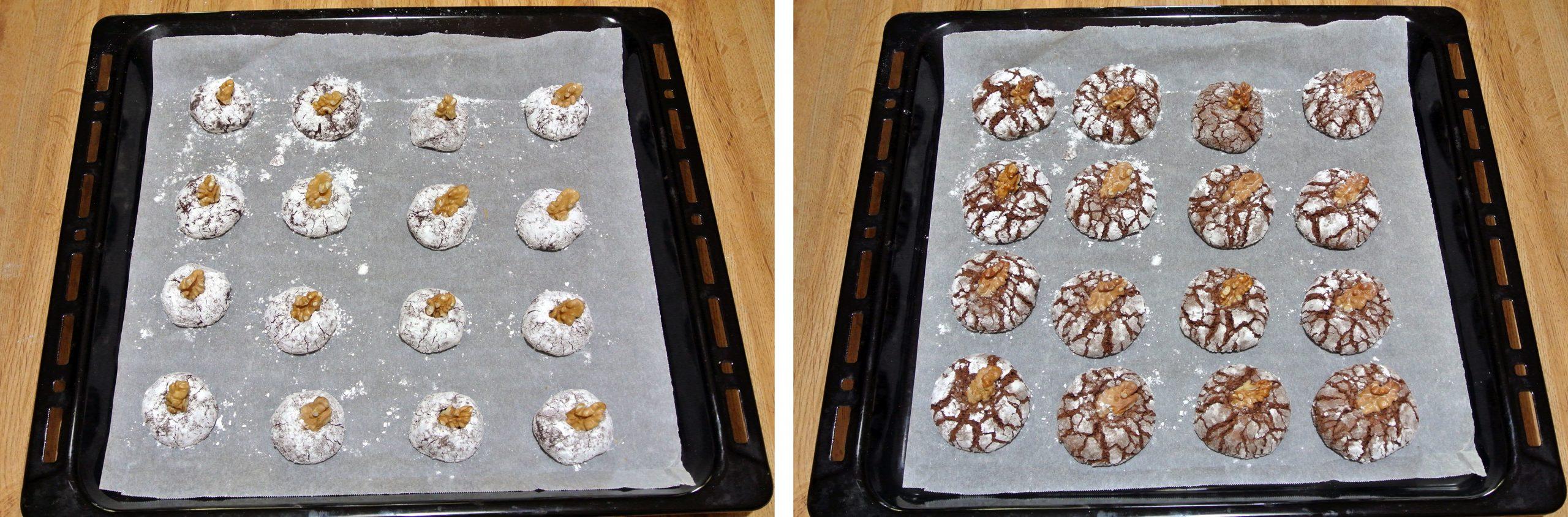 biscotti morbidi alle noci e cioccolato