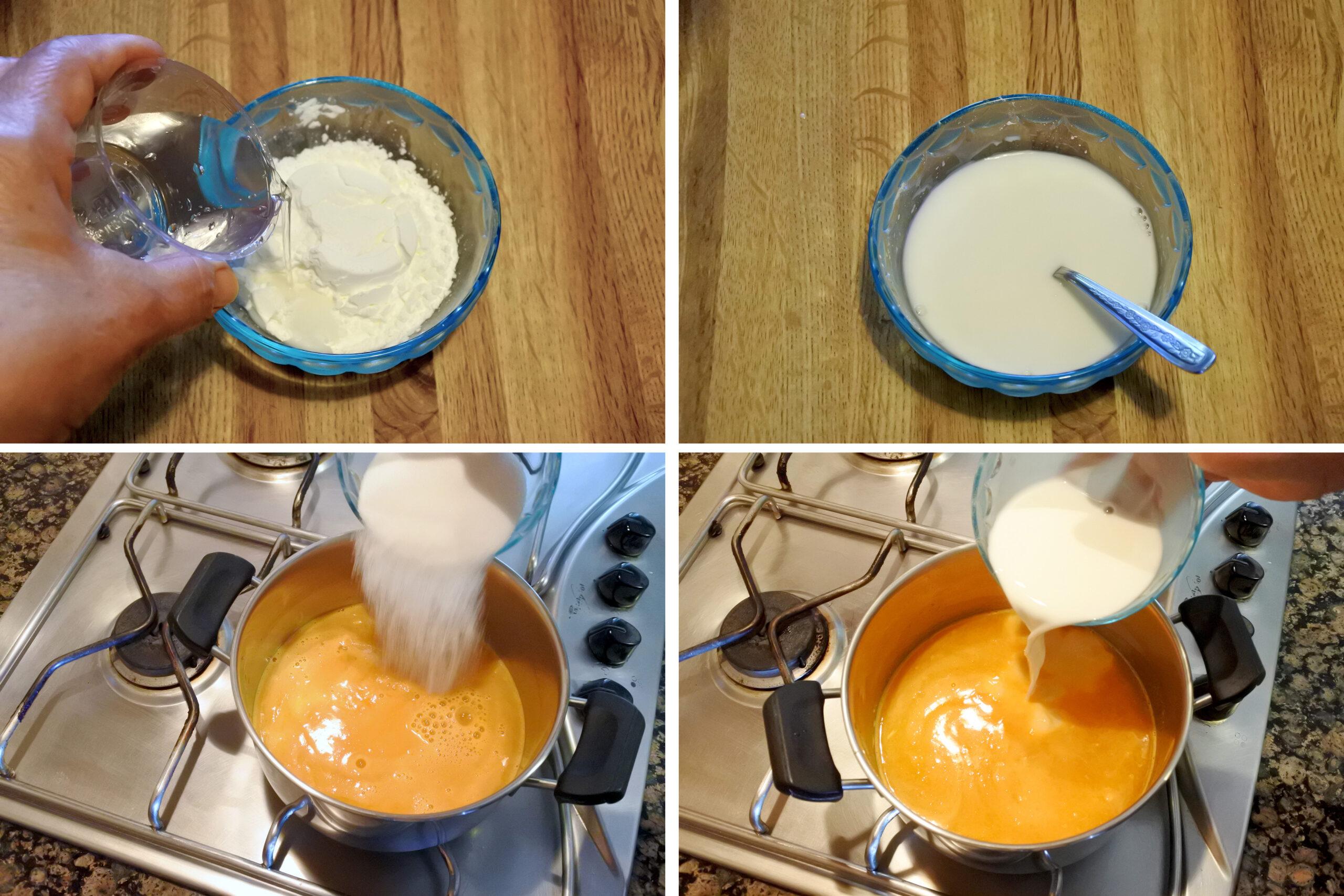 crema al mandarino senza uova e latte