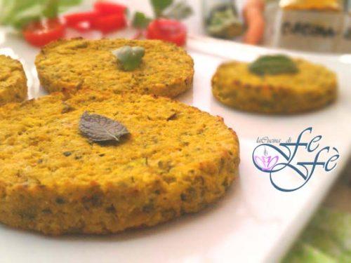 BURGER VEGANI CON ZUCCHINE E FARINA DI PISELLI (Ricetta gluten free)